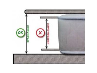 Как правильно померить толщину (высоту) матраса?