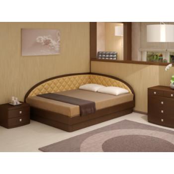 Кровать Торис  Юма Тинто левое (шпон бука)