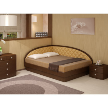Кровать Юма Тинто правое (шпон бука)