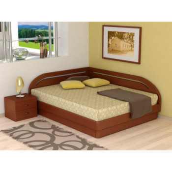 Кровать Торис  Юма Румо правое (шпон бука)